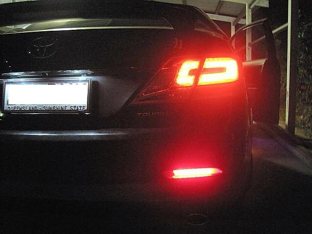 REAR BUMPER LIGHT ON