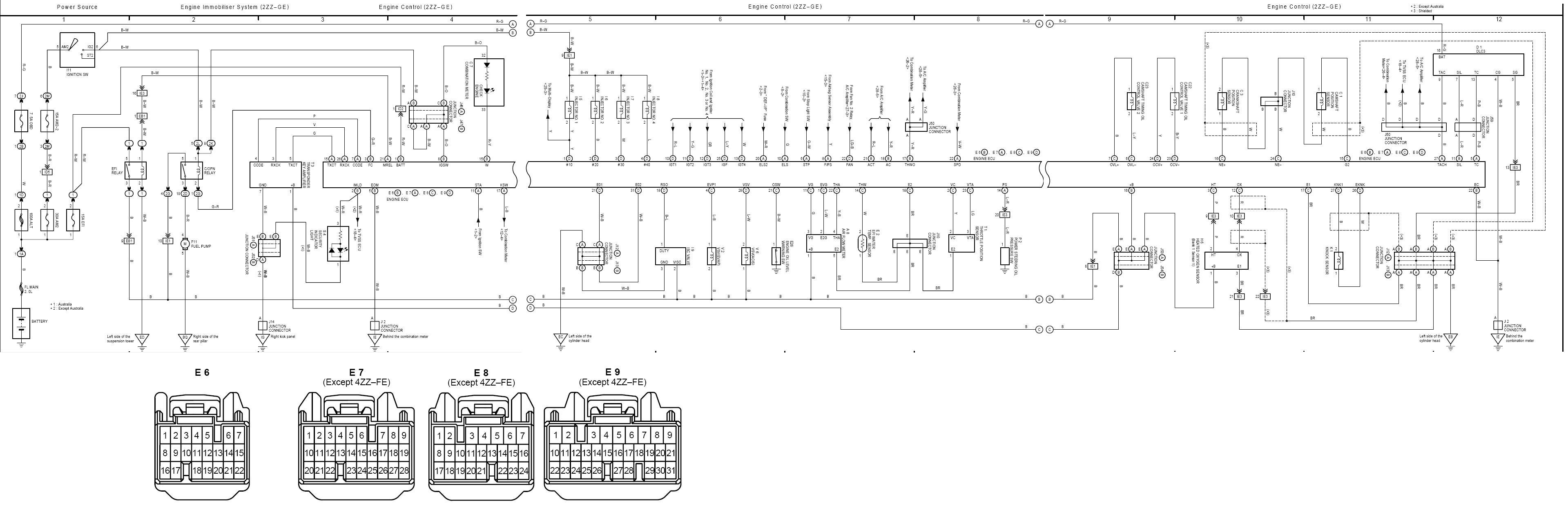 ecu wiring diagram corolla corolla sportivo club toyota toyota tacoma wiring diagram toyota corolla zze122r wiring diagram #1
